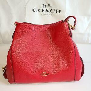 Coach Red Edie 31 Shoulder Bag NWT